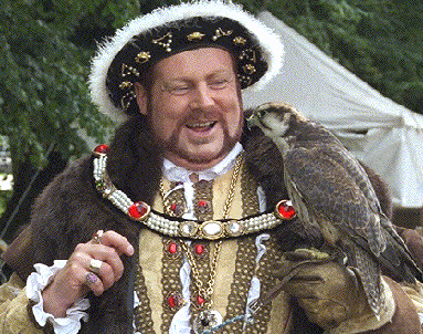 Henry VIII with falcon